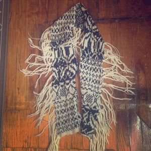 Free People black and white scarf